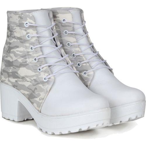 FURIOZZ Boots For Women(White)