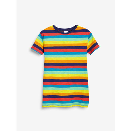 next Girls Multicoloured Striped T-shirt Dress
