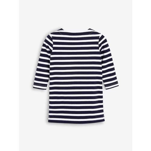 next Girls White & Navy Blue T-shirt Dress