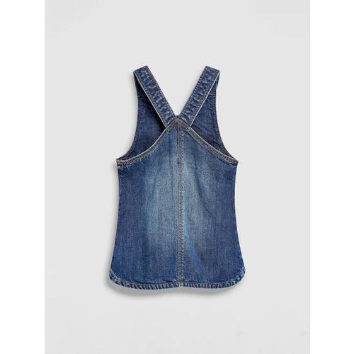 next Girls Blue Solid Pinafore Dress