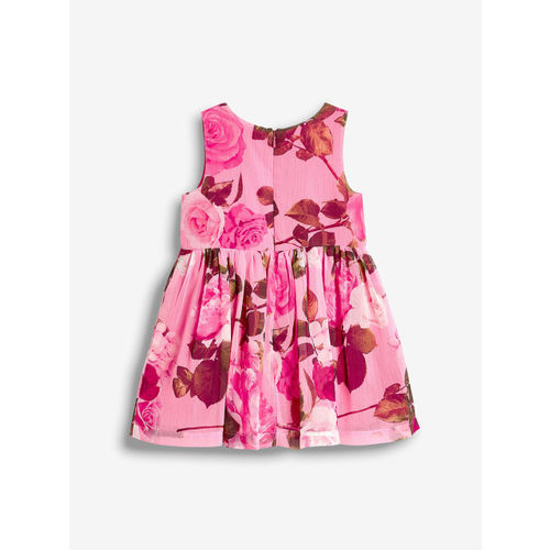 next Girls Pink Fit and Flare Dress