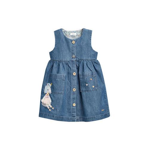 next Girls Blue Solid A-Line Dress