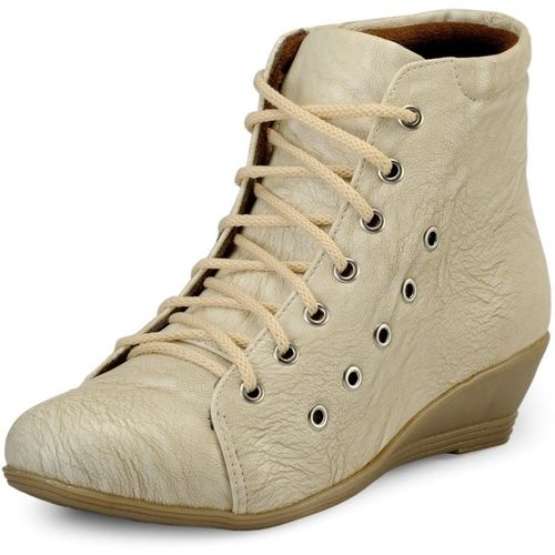 Marc Loire Loire Women's Cream Lace-up Boots Boots For Women(Natural)