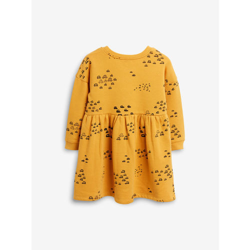 next Girls Mustard A-Line Dress