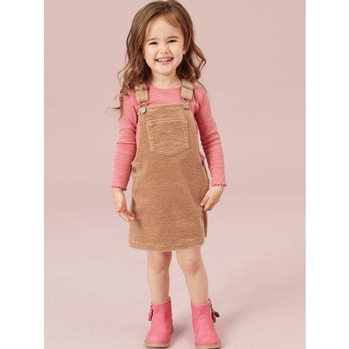 next Girls Brown Pinafore Dress