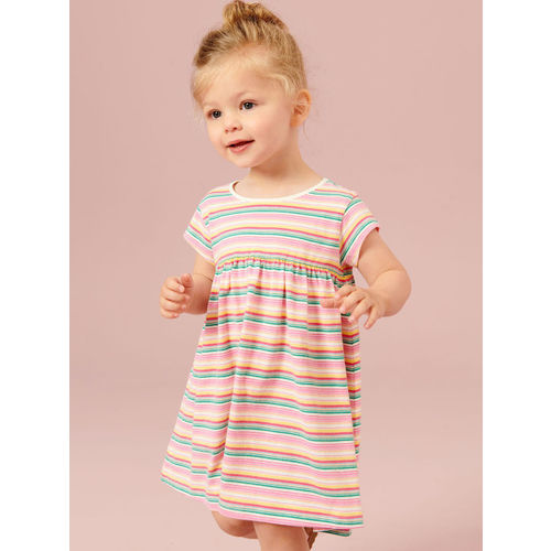 next Girls Multicoloured Striped T-shirt Dress