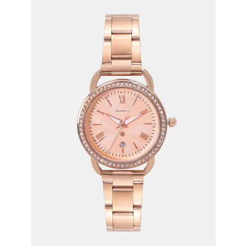 DressBerry Women Rose Gold-Toned Analogue Watch MFB-PN-WTH-6278L