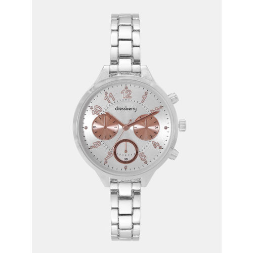 DressBerry Women Silver-Toned Analogue Watch MFB-PN-WTH-5833L-2