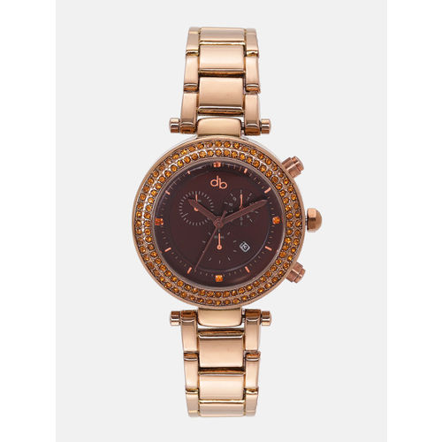 DressBerry Women Coffee Brown Analogue Watch MFB-PN-WTH-6238G-3