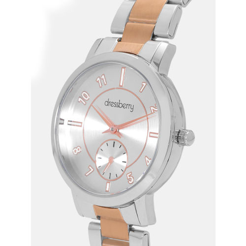 DressBerry Women Silver-Toned Analogue Watch MFB-PN-WTH-8131L
