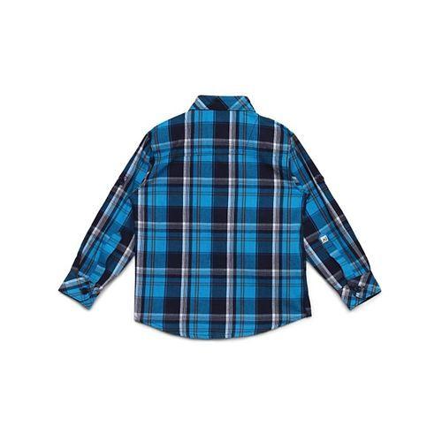 AJ Dezines Checked Full Sleeves Shirt - Blue