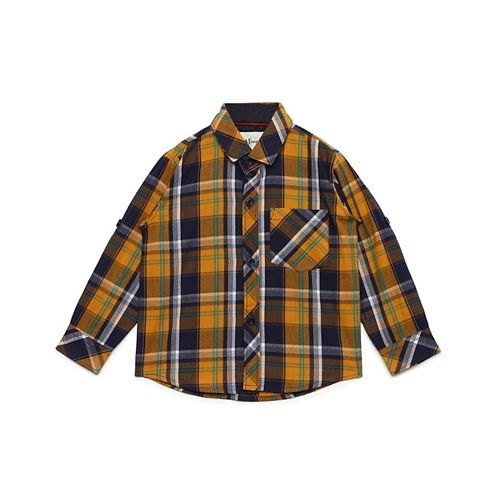 AJ Dezines Checked Full Sleeves Shirt - Yellow