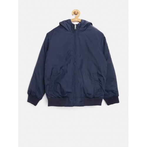 0899eb394 Buy United Colors of Benetton Navy   Red Reversible Hooded Jacket ...