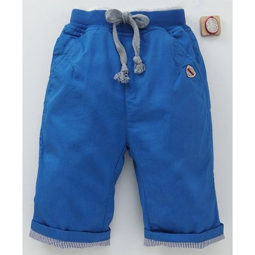 Olio Kids Solid Capri Pant - Royal Blue