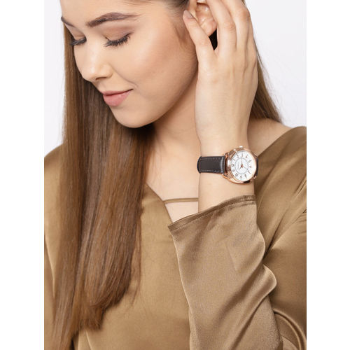 DressBerry Women White Analogue Watch MFB-PN-SNT-G11