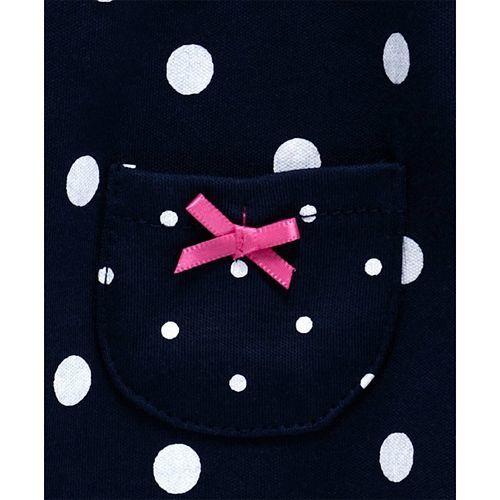Baby Naturelle & Me Half Sleeves Frock Polka Dot Print - Navy Blue