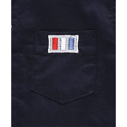Kookie Kids Solid Full Sleeves Shirt - Navy Blue