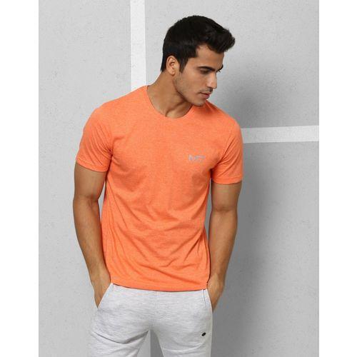 Metronaut Athleisure Solid Men Round Neck Orange T-Shirt