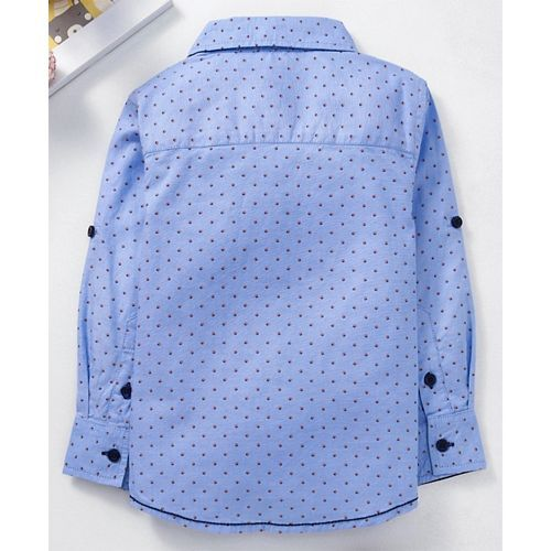Babyhug Full Sleeve Printed Shirt - Blue