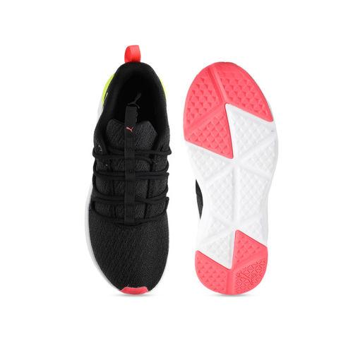 Puma Women Black Prowl Alt Neon SoftFoam+ Training or Gym Shoes