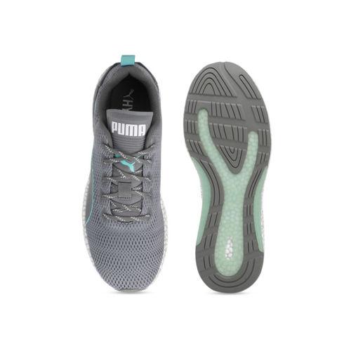 Puma Unisex Grey Textile Hybrid Runner V2 Running Shoes