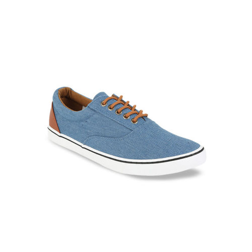 Peter England Men Blue Solid Sneakers