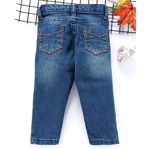 Babyhug Full Length Denim Jeans - Blue