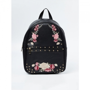 Ginger by Lifestyle Women Black Graphic Backpack