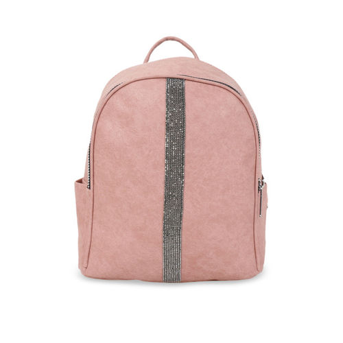 Satchel Bags Women Pink Solid Backpack