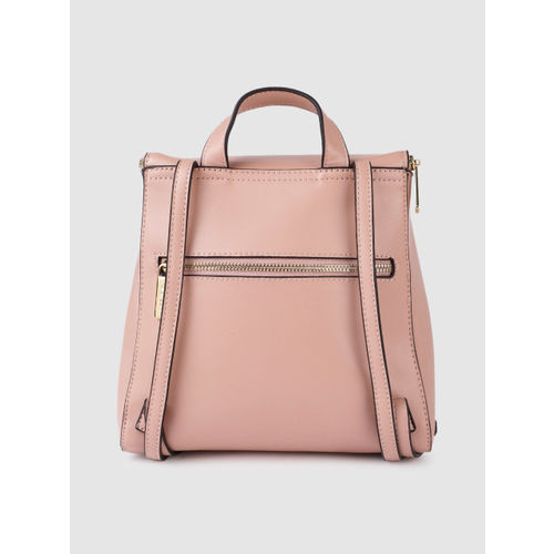 Allen Solly Women Pink Solid Backpack
