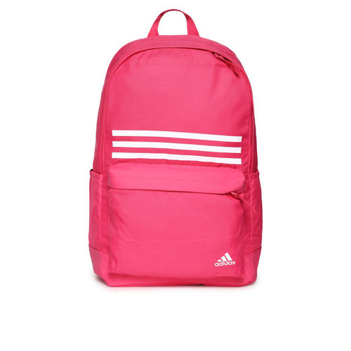 ADIDAS Unisex Pink Classic 3 Stripes Pocket Backpack