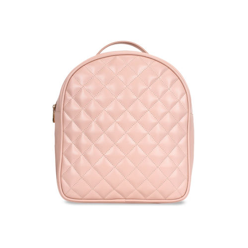 Berrypeckers Women Pink Quilted Backpack