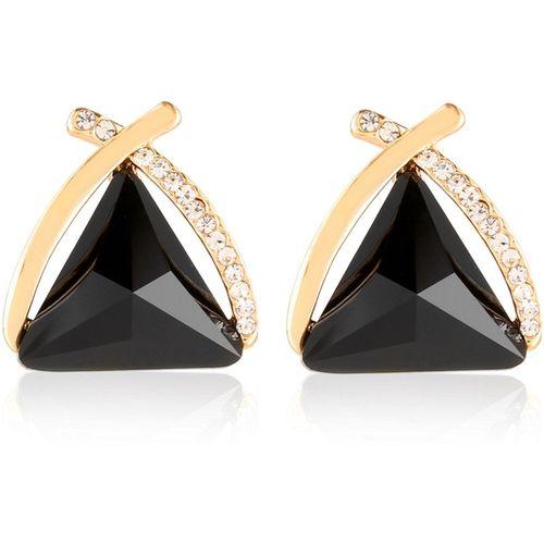 Wedlock Triangl Cubic Zirconia Copper Stud Earring