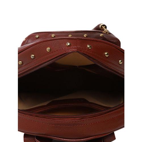 KLEIO Women Brown Solid Backpack