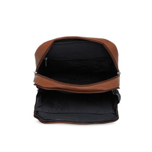 MBOSS Unisex Brown Solid Backpack
