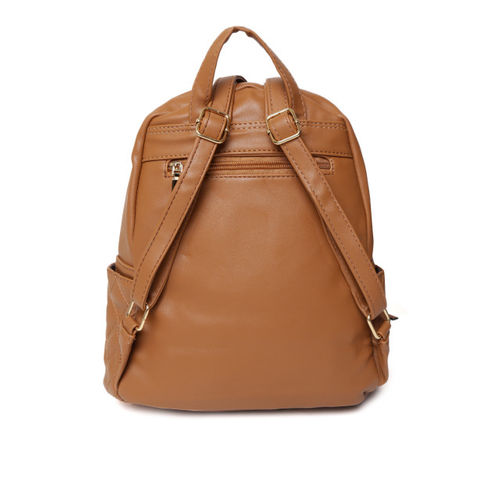 Mast & Harbour Women Brown Quilted Backpack