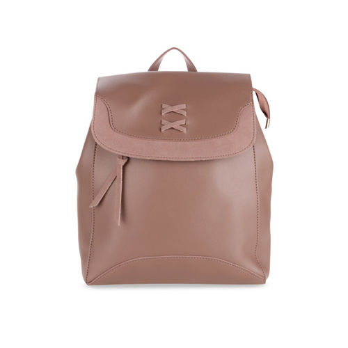 Satchel Bags Women Brown Solid Backpack