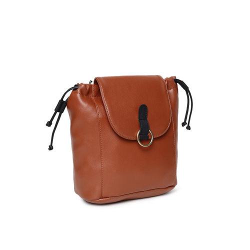 Baggit Women Brown Solid Backpack