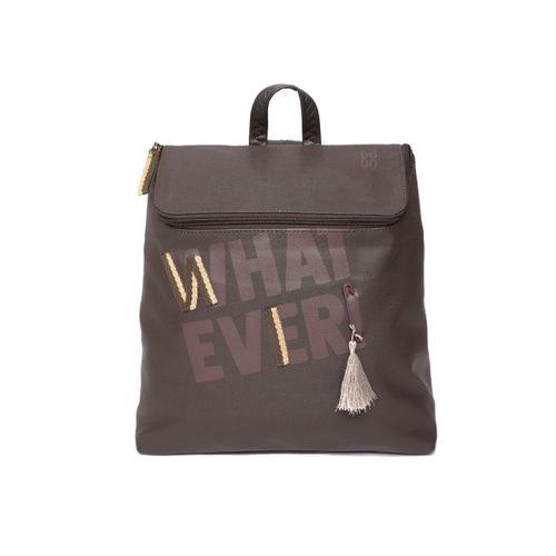 Baggit Women Brown Graphic Backpack