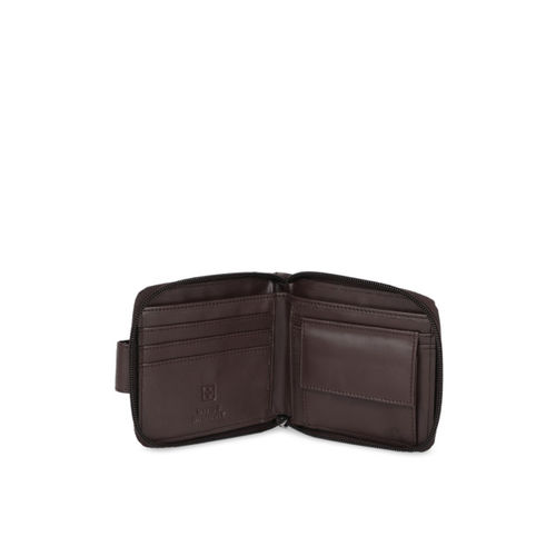 SWISS MILITARY Men Brown Solid Two Fold Wallet