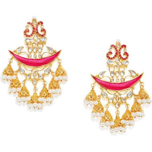 Zaveri Pearls DANGLING JHUMKI DROPS Zinc Jhumki Earring