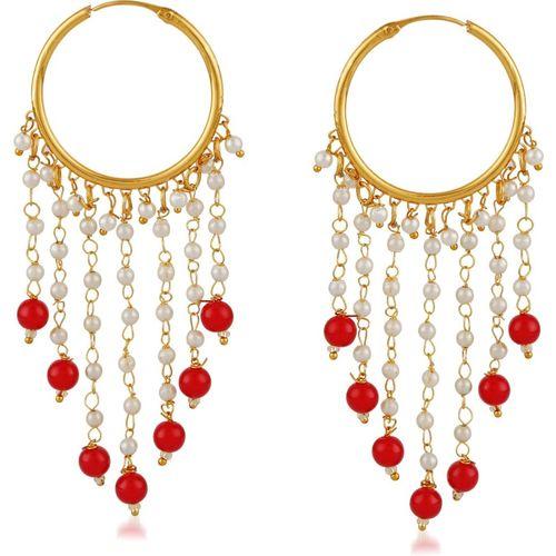 Meenaz Traditional Jewellery Gold Plated Stylish Wedding Bridal Kundan Pearl Bali Earrings for women/girls Diamond Copper, Brass Drops & Danglers