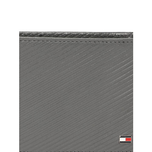 Tommy Hilfiger Men Grey Textured Leather Two Fold Wallet