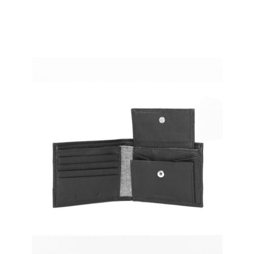 Woodland Men Black Solid Two Fold Leather Wallet