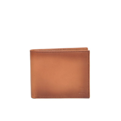 Woodland Men Brown Solid Leather Two Fold Wallet