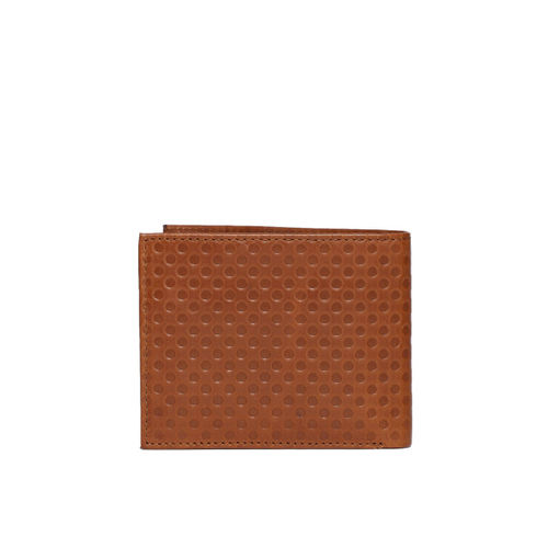 Tommy Hilfiger Men Tan Textured Two Fold Wallet