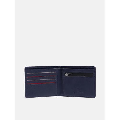 Kook N Keech Men Navy Blue & Red Printed Two Fold Wallet