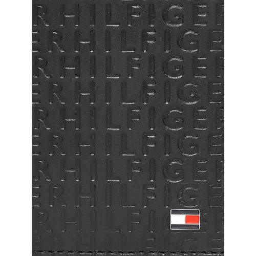 Tommy Hilfiger Men Black Textured Two Fold Wallet