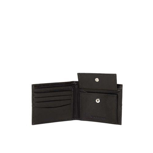 Woodland Men Black Solid Leather Two Fold Wallet