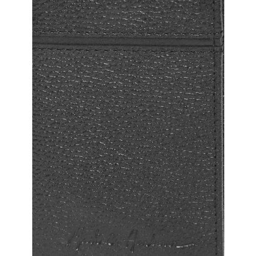 Mast & Harbour Men Black Solid Leather Three Fold Wallet
